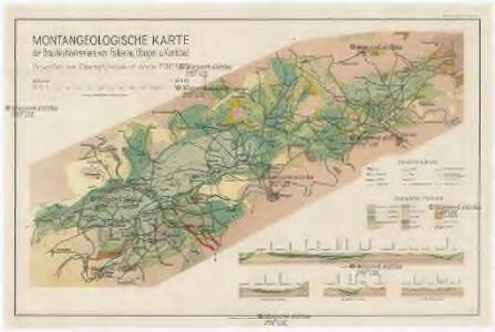 Montangeologische Karte der Braunkohlenreviere von Falkenau, Elbogen u. Karlsbad