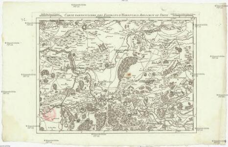Carte particuliere des environs d'Herentals Aerschot et Diest