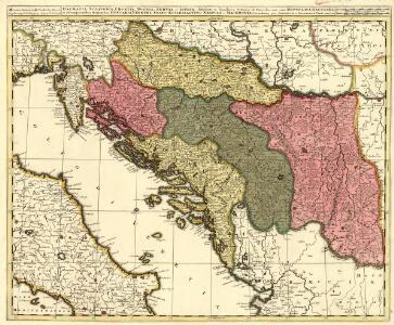 Dalmatia Sclavonia, Croatia, Bosnia, Servia et Istria