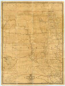 Post route map of the Territory of Dakota.