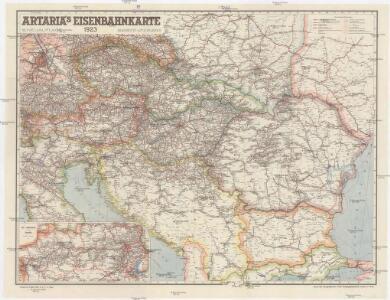Artaria's Eisenbahnkarte