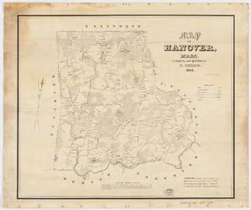 Map of Hanover, Mass