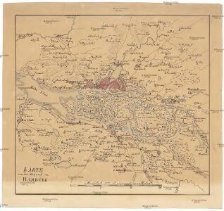 Karte von der Gegend um Hamburg