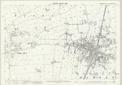 Lincolnshire XLV.12 (includes: Market Rasen; Middle Rasen) - 25 Inch Map