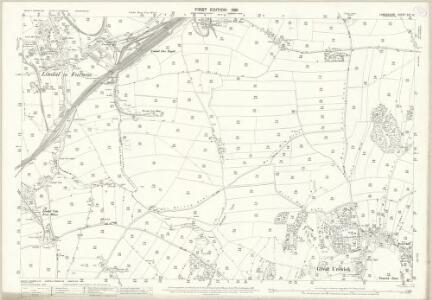 Lancashire XVI.10 (includes: Dalton In Furness; Pennington; Ulverston; Urswick) - 25 Inch Map