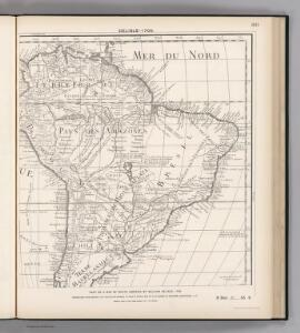 Facsimile:  Part of South America by Delisle.