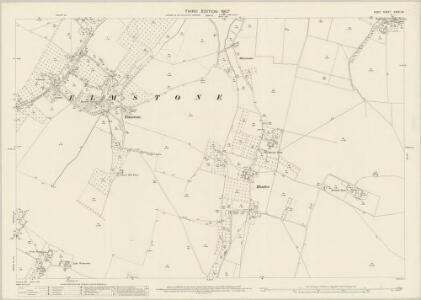 Kent XXXVI.16 (includes: Ash; Preston) - 25 Inch Map