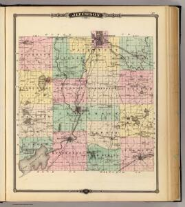 Map of Jefferson County, State of Wisconsin.