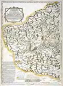 Mapa geográfico del partido de Ponferrada, que suelen llamar regularmente provincia del Vierzo