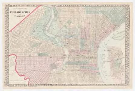 Plan of the city of Philadelphia and Camden