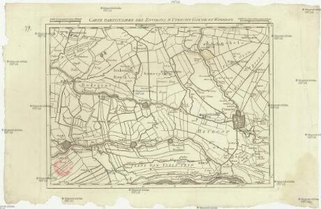 Carte particuliere des environs d'Utrecht Goude et Woerden