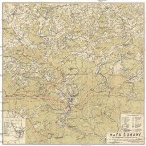 Mapa Šumavy