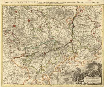 Comitatus Namurcensis cum Finitimis Regionibus, ad Usum Serenissimi Burgundiae Ducis