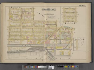 Buffalo, Double Page Plate No. 7 [Map bounded by Prospect St., Genesee St., Lake Erie, Maryland St.]