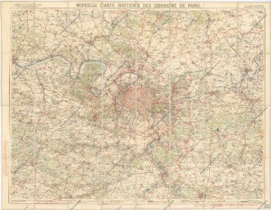 Nouvelle carte routiere des environs de Paris