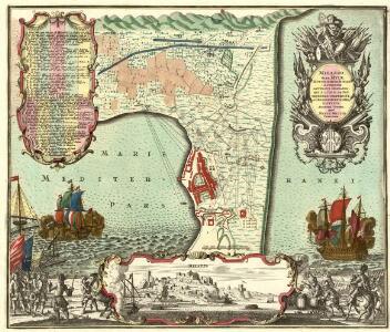 Milazzo olim Mylae Munitissimum Siciliae Castellum Adversus Hispanos qui Ao. 1718 D. 24. Oct. obsidere coeperunt a Caesareis Fortissime defensum