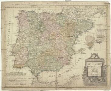 Regnorum Hispaniae et Portvgalliae tabula generalis ad statum hodiernum in suas provincias divisa