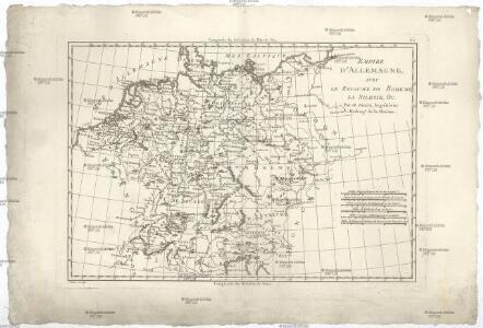 Empire d'Allemagne avec le royaume de Boheme, la Silesie, & c