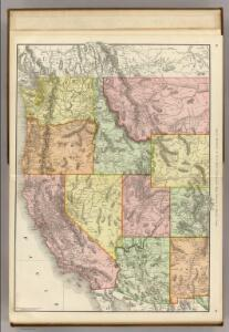 Commercial Map, Denver to Pacific Coast.