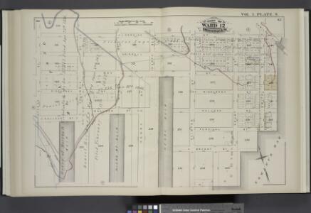 Vol. 5. Plate, S. [Map bound by Lorraine St., Hamilton Ave., Gowanus Bay, Otsego St.; Including Crinnell St., Bay St., Sigourney St., Halleck St., Percival St., Bryant St., Columbia St., Hicks St., Hicks St. Slip Henry St., Henry Slip, Clinton St., Court