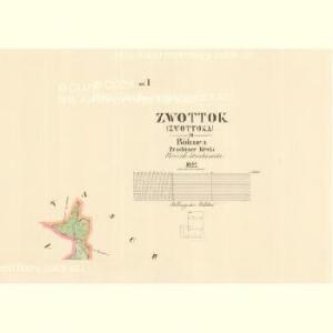 Zwottok (Zwottoka) - c9318-1-003 - Kaiserpflichtexemplar der Landkarten des stabilen Katasters