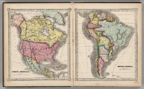 North America.  South America.