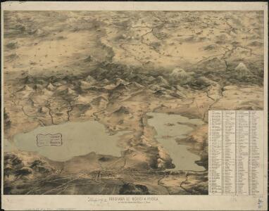 Panorama de Mexico a puebla, con todos los caminos, rios, poblaciones y montes