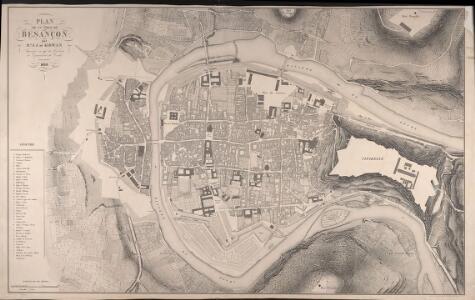 Plan De La Ville De Besançon