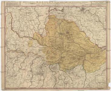 Ducatus Mantuani, ceu sedis belli 1733-35 recentissima delineatio una cum confiniis ducatus Mediol. Parmensis, Modenensis, et territ. Veronensis et Bresciani