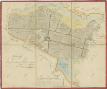 Geometrický plán pozemků dvora Dvorce, rybníků Verfle, Smetana, Dolejší a Hořejší Zlatník a přilehlých pozemků