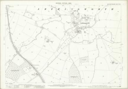 Northamptonshire XXIV.5 (includes: Arthingworth; Harrington; Kelmarsh) - 25 Inch Map