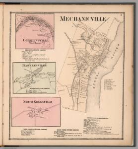 Mechanicville.  Conklingville, West Hadley P.O.  Barkersville.  North Greenfield, New York.