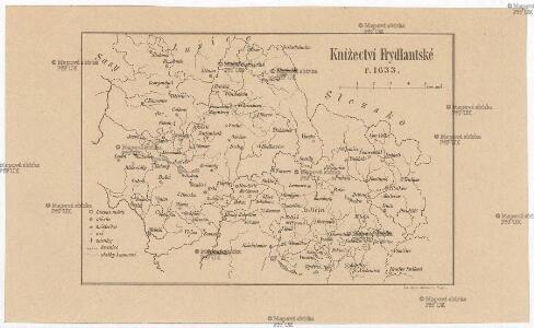 Knížectví Frydlantské r. 1633