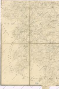 Administrativ Karte der Hochfürstlich Schwarzenberg ́schen Herrschaft... In Böhmen