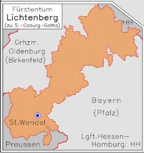 Fürstentum Lichtenberg [1820] [Nebenkarte]