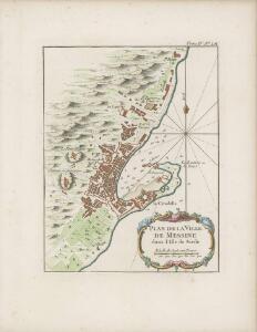 Plan de la ville de Messine dans l'isle de Sicile