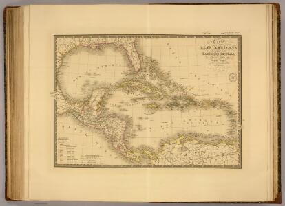 Iles Antilles, Etats-Unis de l'Amerique Centrale, Mer du Mexique.