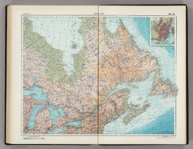 188-189.  Canada, East.  The World Atlas.