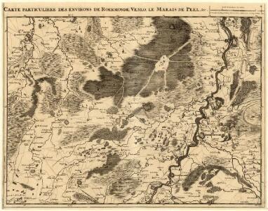 Carte particuliere des Environs de Roermonde, Venlo, le Marais de Peel &c.