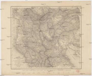 Carte de la Macédoine d'une partie de l'Albanie, de l'Epire et de la Thessalie