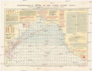 Meteorological chart of the North Pacific Ocean