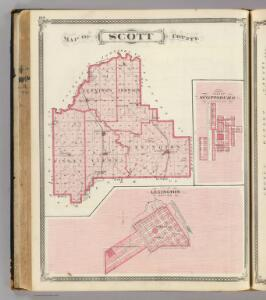 Map of Scott County (with) Lexington, Scottsburg.