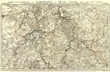 Partie Septentrionale du Landgraviat de Hesse-Cassel avec les Pays Voisins