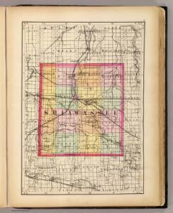 (Map of Shiawassee County, Michigan)