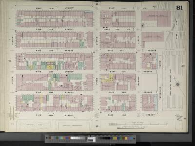 Manhattan, V. 4, Double Page Plate No. 81  [Map bounded by W. 47th St., E. 37th St., Park Ave., E. 42nd St., W. 42nd St., 6th Ave.]