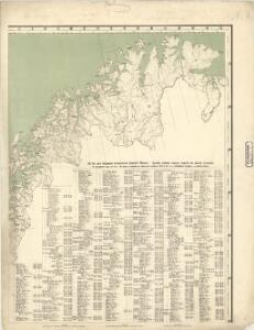 Spesielle kart 63: Pflanzengeographische Karte Über Das Königreich Norwegen, blad 2