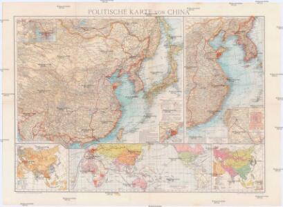 Politische Karte von China