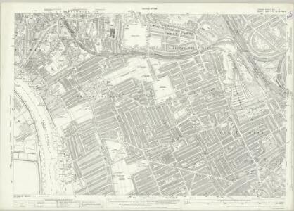 London (1915- Numbered sheets) VIII.3 (includes: Fulham; Hammersmith) - 25 Inch Map