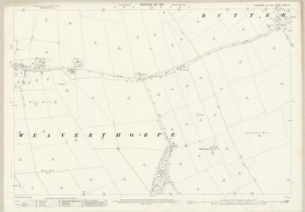 Yorkshire CXXVI.10 (includes: Foxholes; Weaverthorpe) - 25 Inch Map