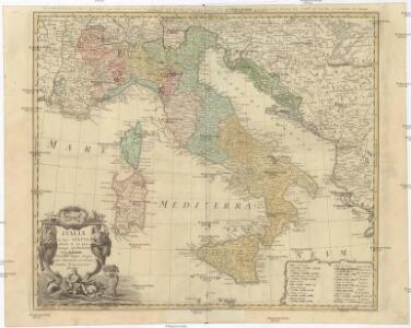 ITALIA in suos STATVS divisa et ex prototypo del 'ISLIANO desumta